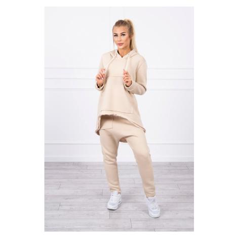 Zestaw ze spodniami Baggy light beige