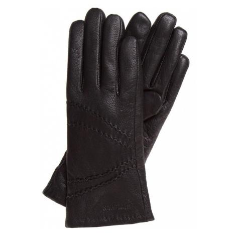 WITTCHEN Rękawiczki damskie czarny skóra licowa