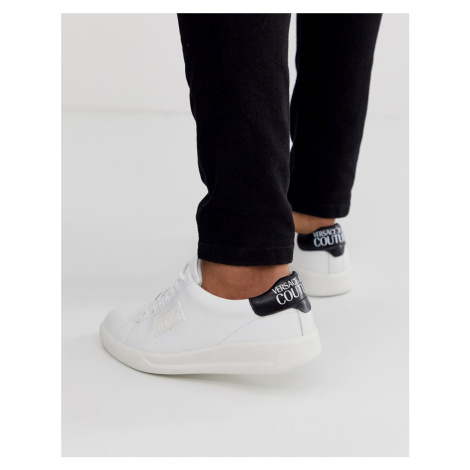 Versace Jeans Couture trainers with logo in white