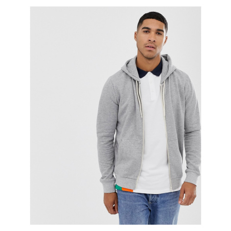 Brave Soul basic zip through hoodie