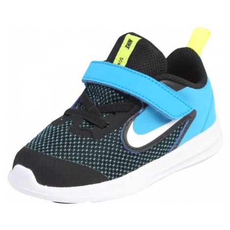 Nike Sportswear Trampki 'DOWNSHIFTER' czarny / turkusowy