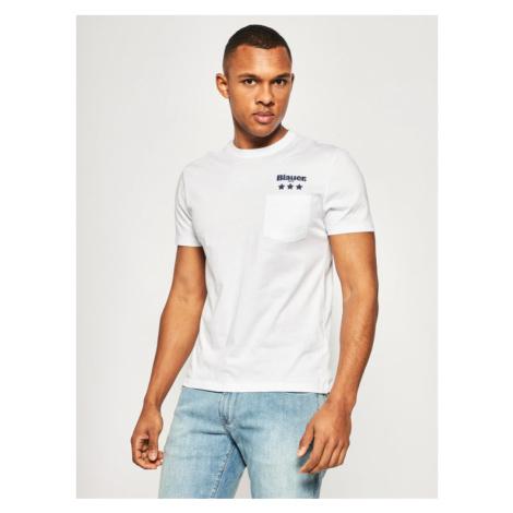 Blauer T-Shirt Pocket 20SBLUH02172 004547 Biały Regular Fit
