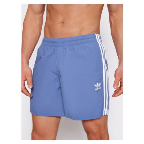 Adidas Szorty kąpielowe 3-Stripe GN3527 Niebieski Regular Fit