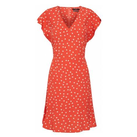 SET Sukienka pomarańczowo-czerwony / biały