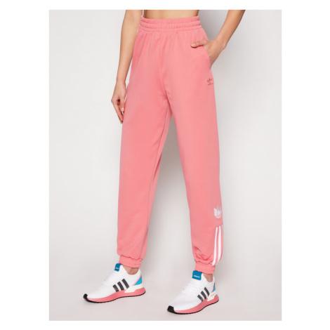 Adidas Spodnie dresowe adicolor 3D Trefoil GN6708 Różowy Regular Fit