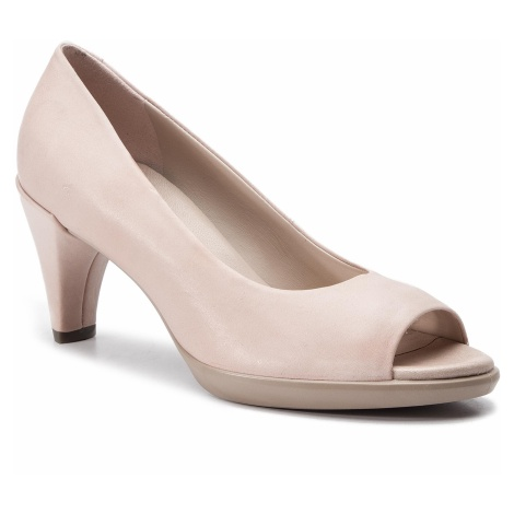 Półbuty ECCO - Shape 55 Peep Toe Sleek 26830302118 Rose Dust
