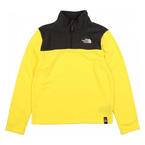 THE NORTH FACE Sweter sportowy 'Glacier' czarny / żółty