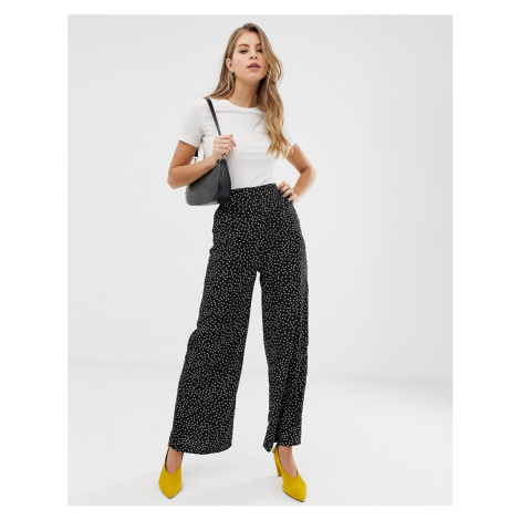 QED London polka dot palazzo trousers