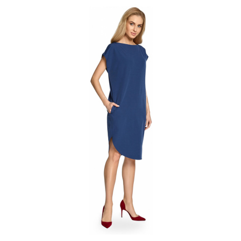 Stylove Woman's Dress S098 Navy Blue