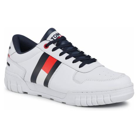 Sneakersy TOMMY JEANS - Retro Tommy Jeans Sneaker EM0EM00575 White YBR Tommy Hilfiger