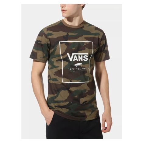 T-shirt męski moro w kolorze khaki VANS