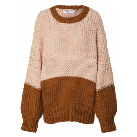 NA-KD Sweter 'two coloured heavy knitted sweater' różowy pudrowy