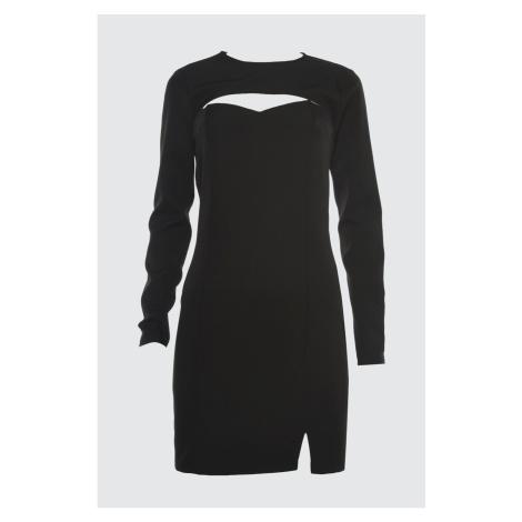 Suknia o kołnierzyka Trendyol Black Bolero