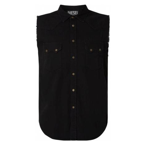 Koszula casualowa o kroju slim fit z bawełny Diesel