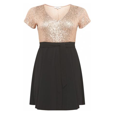 ABOUT YOU Curvy Sukienka koktajlowa 'Mary Dress' czarny / różowy pudrowy