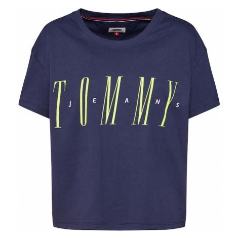 Tommy Jeans Koszulka 'TJW LAYER GRAPHIC TEE' granatowy / żółty Tommy Hilfiger