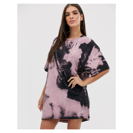 The Couture Club oversized motif tshirt dress in tie dye print