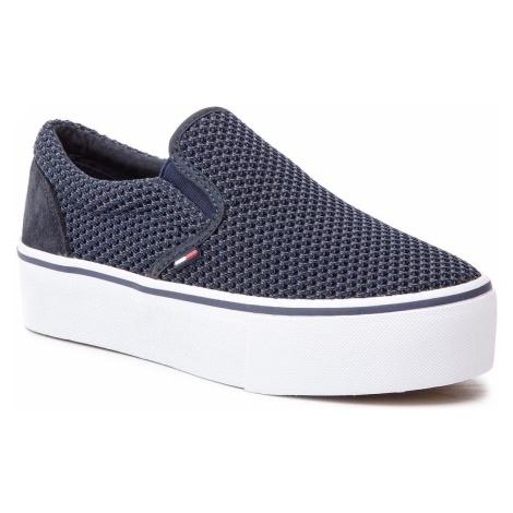 Tenisówki TOMMY JEANS - Slipon Textile City Sneaker EN0EN00410 Midnight 403 Tommy Hilfiger