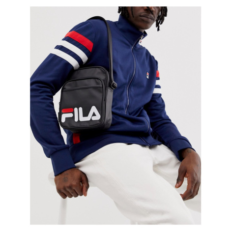 Fila London flight bag with logo in black