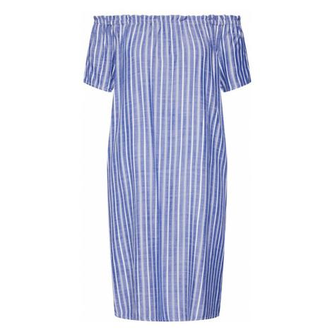 STREET ONE Letnia sukienka 'EOS yarn dyed striped Carmen D' niebieski