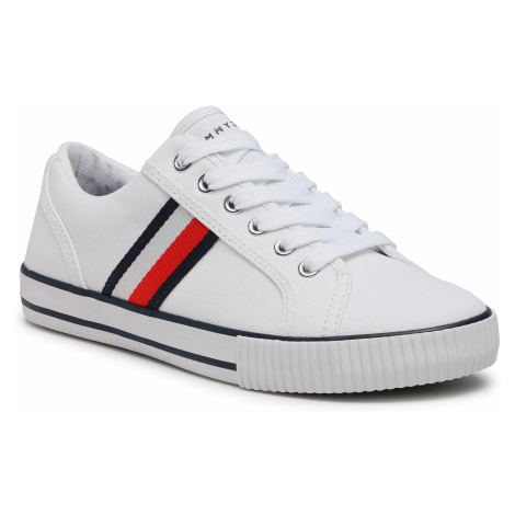 Tenisówki TOMMY HILFIGER - Low Cut Lace-Up Sneaker T3B4-31070-1185 S White X336
