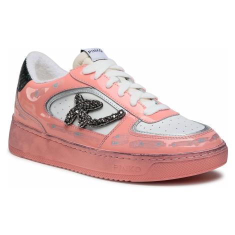 Sneakersy PINKO - Liquirizia Low Top 2 Sneaker PE 21 BLKS1 1H20UK Y735 Rosa/Bianc NZ1