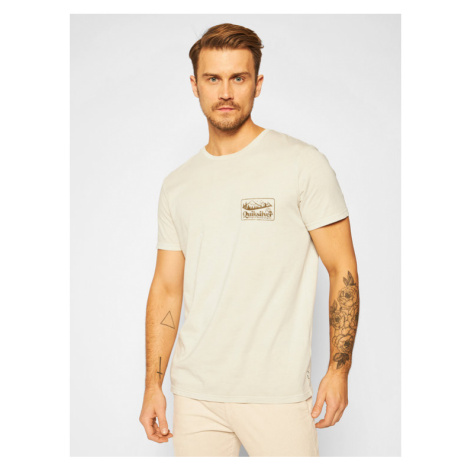 Quiksilver T-Shirt Old Habit EQYZT06119 Beżowy Regular Fit