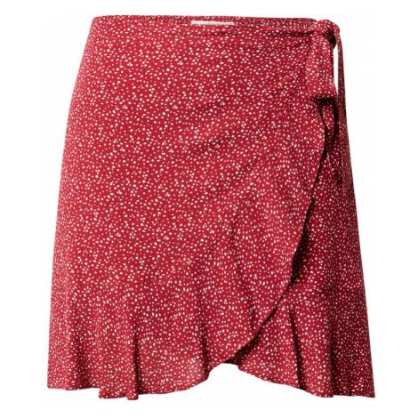 Abercrombie & Fitch Spódnica biały / czerwony