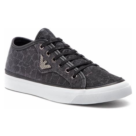 Sneakersy EMPORIO ARMANI - X3X054 XL487 K001 Black/Silver