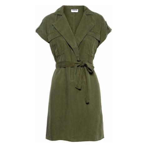 Noisy may Sukienka koszulowa oliwkowy