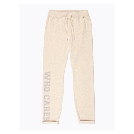 GATE Melanżowe spodnie dresowe z nadrukiem