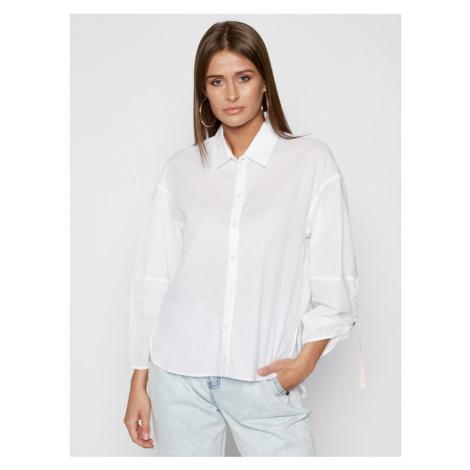 Patrizia Pepe Koszula 2C1114/A4Y9-W103 Biały Regular Fit