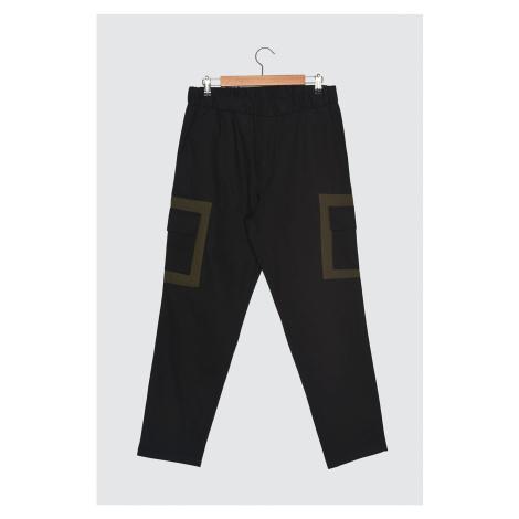Trendyol Black Męskie spodnie wieloksowe