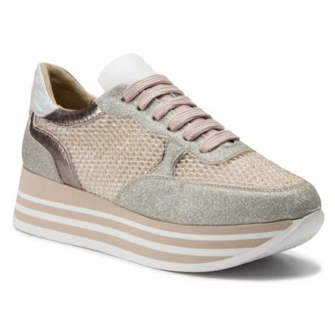 Eva Minge Sneakersy EM-11-05-000042 Srebrny