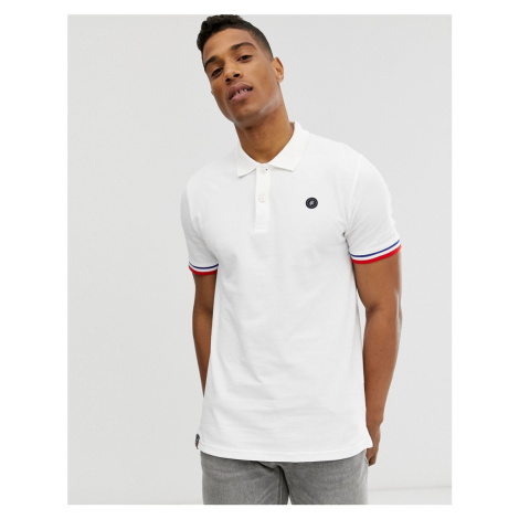 Jack & Jones Originals polo with taping in white
