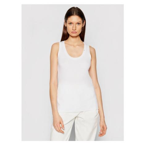 Patrizia Pepe Top 8M1221/A2HR-W103 Biały Slim Fit