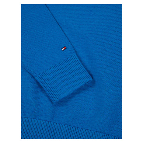 Tommy Hilfiger Sweter Essential Logo KB0KB05447 D Niebieski Regular Fit