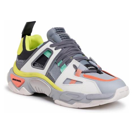 Sneakersy DIESEL - S-Kipper Low Trek II Y02352 P3400 H8157 Quarry/Black/Yellow
