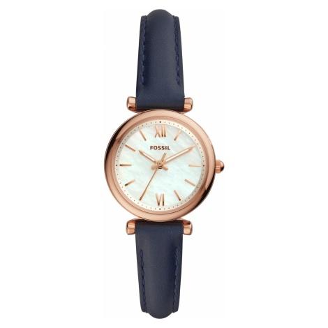 Zegarek FOSSIL - Carlie ES4502 Navy/Rose Gold