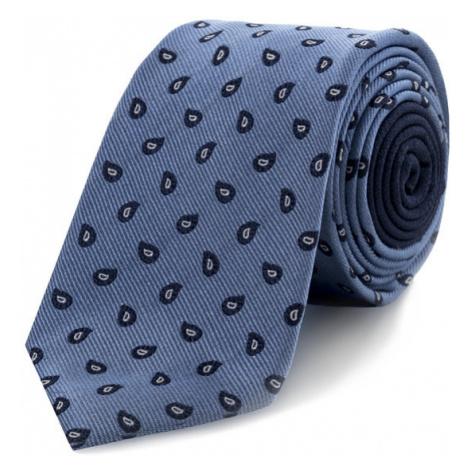 Tommy Hilfiger Tailored Krawat Paisley TT0TT06091 Niebieski
