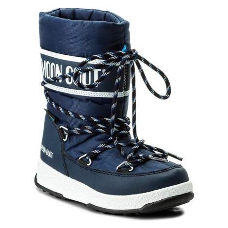 Śniegowce MOON BOOT - Sport Jr Wp 34051300002 Blue Navy/White