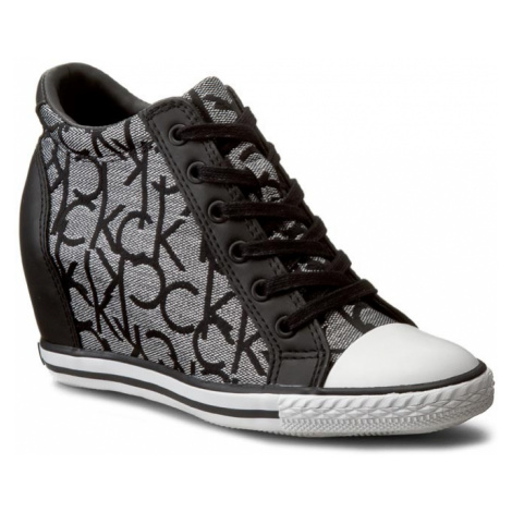 Sneakersy CALVIN KLEIN JEANS - Vero RE9643 Silver/Bla