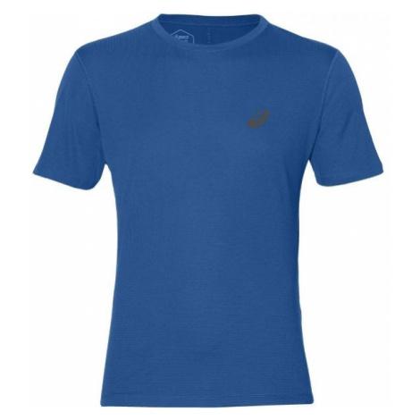 Asics SILVER SS TOP niebieski XL - Koszulka do biegania męska