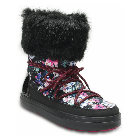 buty Crocs Lodgepoint Graphic Lace Boot - Tropical/Black