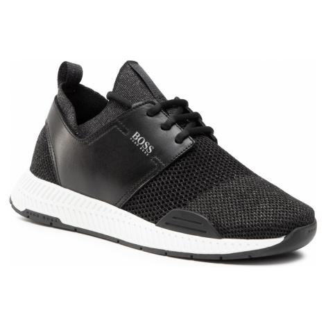 Sneakersy BOSS - Titanium 50447460 10233175 01 Black 001 Hugo Boss