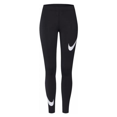 Nike Sportswear Legginsy biały / czarny