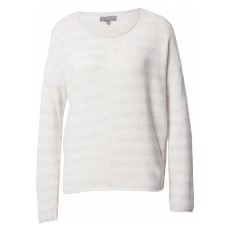 LIEBLINGSSTÜCK Sweter 'Havin' srebrno-szary / biały