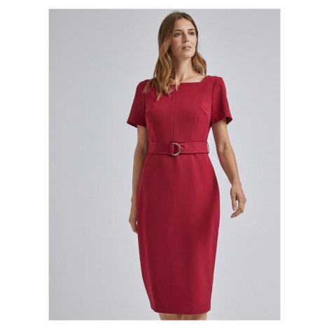 Sukienka midi w czerwonej osłonie Dorothy Perkins