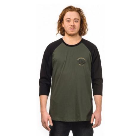 Horsefeathers BEAR T-SHIRT czarny M - Koszulka z długim rękawem męska
