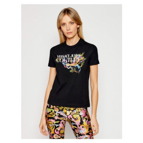 Versace Jeans Couture T-Shirt B2HWA7KA Czarny Regular Fit